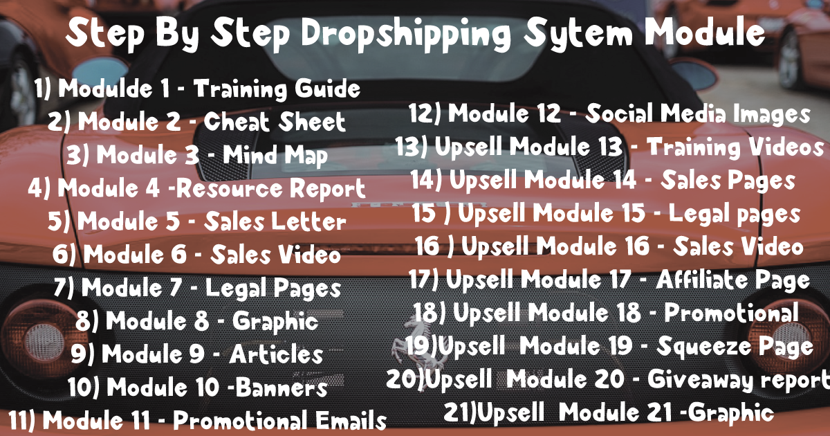 Step By Step Dropshipping Sytem Module