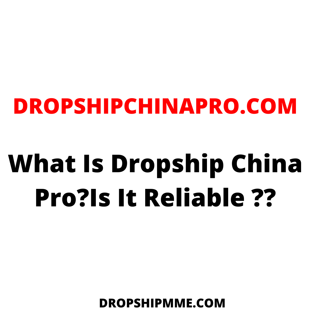I found Dropship China Pro when i doing my research on what is the top Aliexpress supplier alternative and i came across it. I will talk about what is dropshipchinapro.com ,how it works and who should be using this.