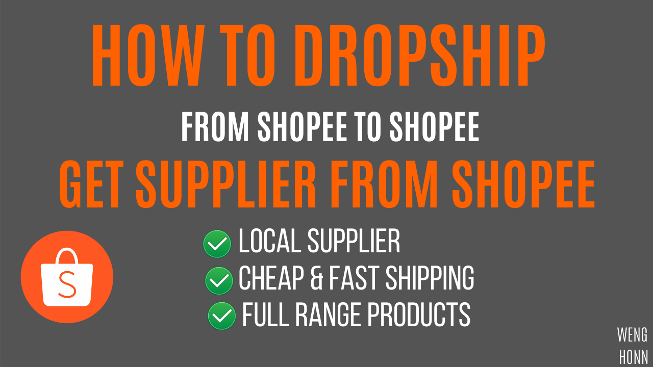 SHOPEE LOCAL SUPPLIER FOR DROPSHIPPING