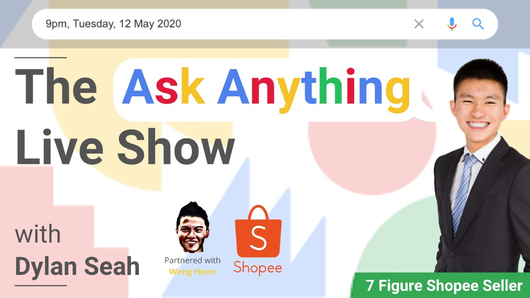 Shopee Stokist Seller And Shopee Dropshipping Seller I The Ask Anything Live Show with Dylan Seah