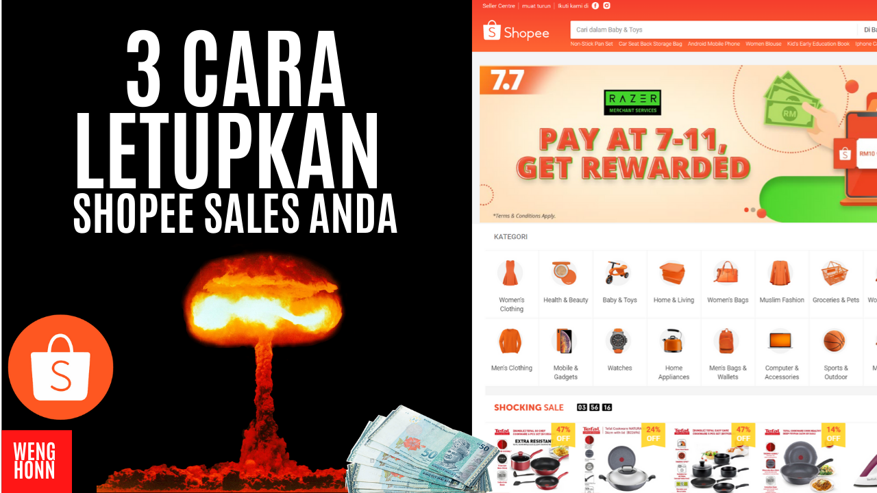 3 CARA LETUPKAN SALES DI KEDAI DROPSHIP SHOPEE ANDA , HOW TO MAKE MONEY WITH SHOPEE DROPSHIPPING .