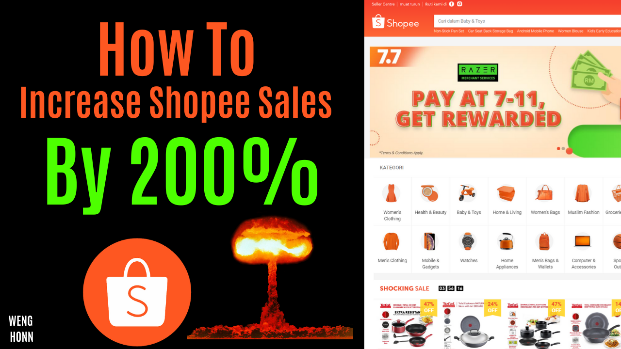 4 Ways To Increase Shopee Dropshipping Sales /Shopee Stokist Revenue , Cara Buat Duit Dengan Shopee