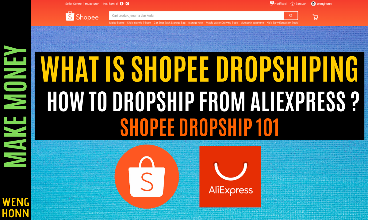 WHAT IS Shopee DROPSHIPPING , Start Aliexpress dropship and Sell on Shopee?? Shopee Dropshipping 101