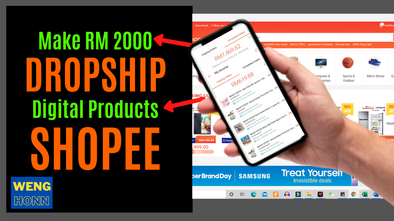 Make RM 2000 DROPSHIP Digital Products SHOPEE