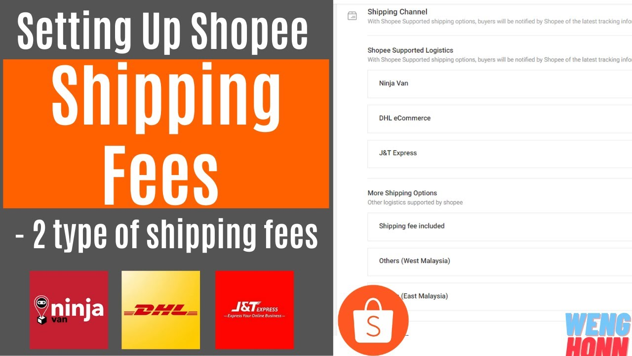 Setting Up Shopee Shipping Fees Part 1- Different Type Of Shipping Services in Shopee.