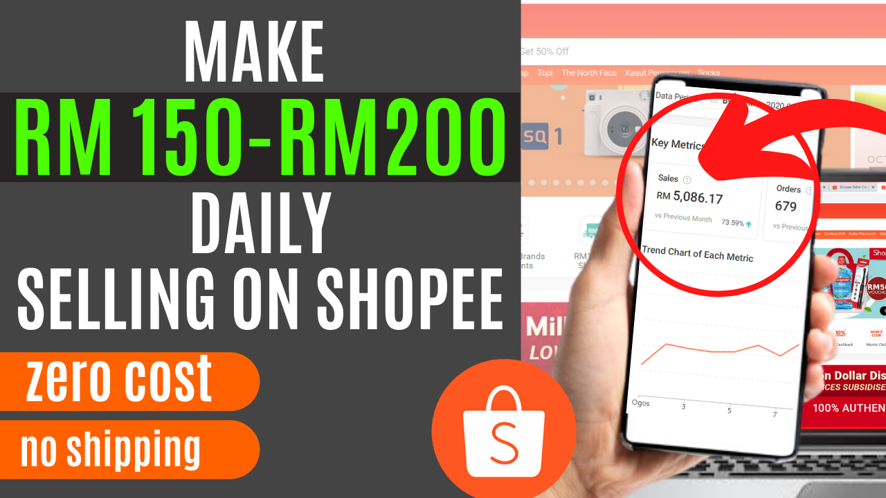 MAKE RM 150-RM200 DAILY SELLING ON SHOPEE